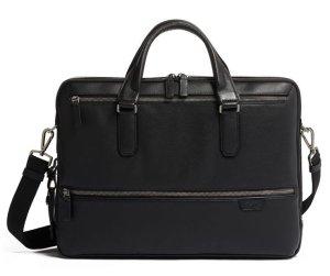 画像1: TUMI / HARRISON   ハロウ・ダブル・ジップ・レザー・ブリーフ Harrow Double Zip Brief Leather